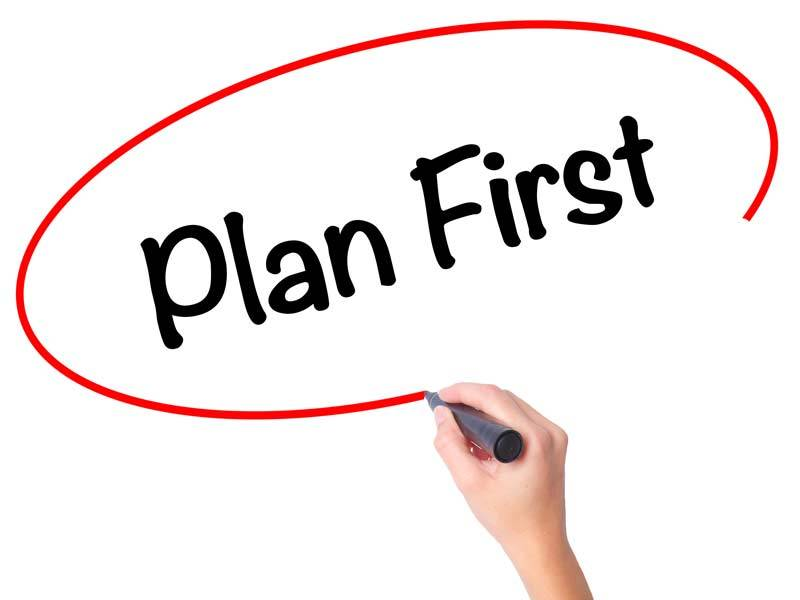 Plan First for Your Fundraiser