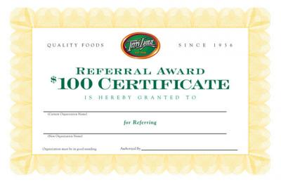 Download Form - Terri Lynn Referral Reward Offer