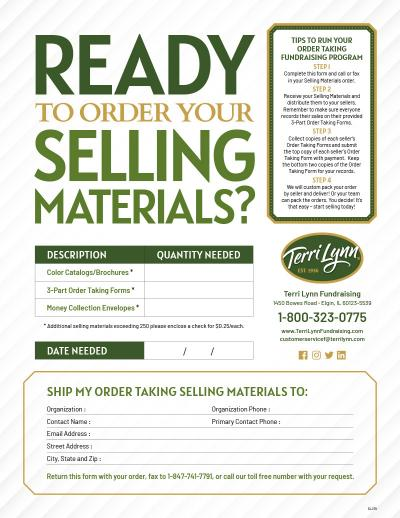 Download Form - Terri Lynn Selling Materials Order Form