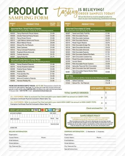 Download Form - Terri Lynn Sample Product Rebate Order Form