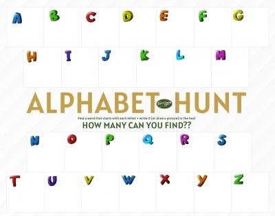 Download Form - Alphabet Hunt