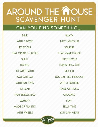 Download Form - Around the House Scavenger Hunt
